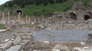 Pan Across Ephesus Ruins
