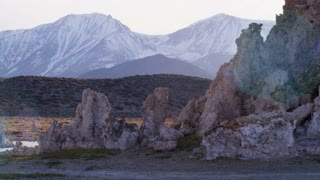 Pan Across Exotic Terrain at Mono Lake
