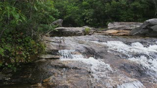 Pan Across Fast-moving Stream, Blue Ridge Mountains