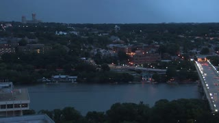 Pan Across Georgetown Skyline at Twilight