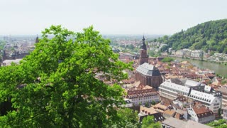 Pan Across Heidelberg and River
