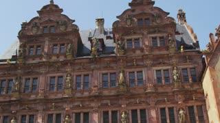 Pan Across Heidelberg Castle Ruins