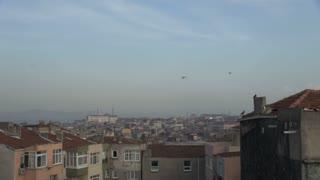 Pan Across Istanbul Skyline
