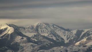 Pan Across Mountain Peaks Time Lapse