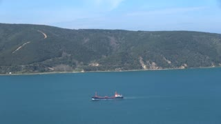 Pan Across Mouth of Black Sea Entering Turkey