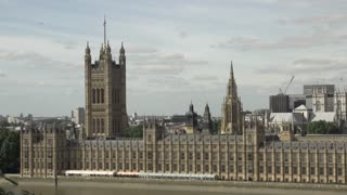 Pan Across Palace of Westminster