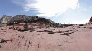 Pan Across Redrock Cliff Fisheye Lens