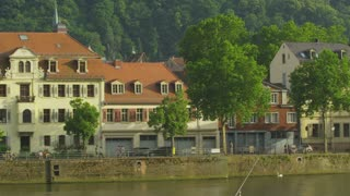 Pan Along Heidelberg Riverfront