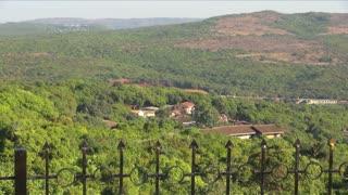 Pan Around Scenic Countryside