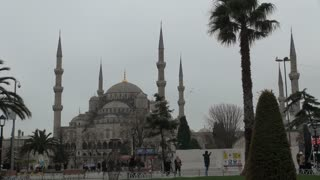 Pan From Blue Mosque to Hagia Sophia Istanbul