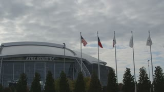 Pan of AT&T Stadium in Texas