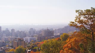 Pan of Downtown Montreal
