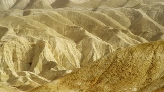 Pan Of Dry Tan Desert Mountains