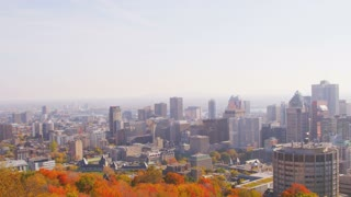 Pan of Montreal Skyline