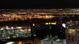 Pan Through Vegas Sunrise Timelapse