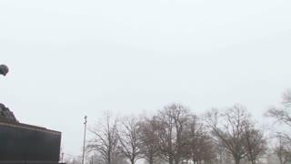 Pan To Iwo Jima War Statue