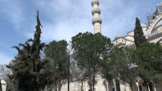 Pan To Suleymaniye Mosque Istanbul