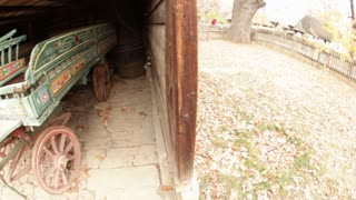 Pan to Wagon in Barn