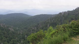 Panning Across Misty Blue Ridge Mountains, Panorama