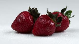 Panning Across Strawberries