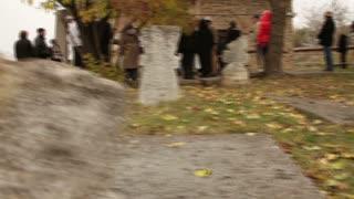 Panning Across the Headstones