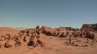 Panning Shot Across Goblin Valley Utah