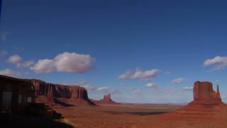 Panning Shot From Hotel To Monument Valley