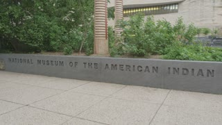 panning up at the National Museum of the American Indian