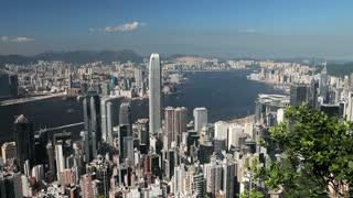 Panoramic view of Hong Kong's Victoria Harbor