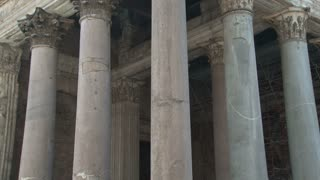 Pantheon Columns Close Up Tilt
