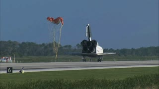 Parachute Detaching From Shuttle