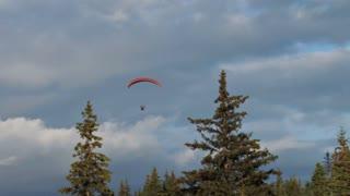 Paragliding Across Scenic Alaskan Sky