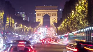 Paris - Arc de Triomphe Traffic Time Lapse