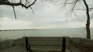 Park Bench Outlook Over Lake Ontario