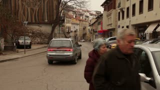 Parking On Small Street In Romania
