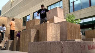 Parkour Flips and Fall