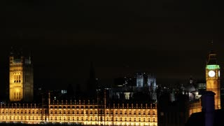 Parliament and Big Ben at Night Timelapse