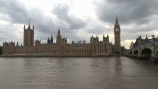 Parliament Building On River Thames