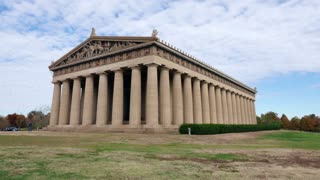 Parthenon Nashville Tennessee Time Lapse. The Parthenon in Nashville, Tennessee. A full-sized replica of the original Parthenon in Athens, built in 1897 for the Tennessee Centennial Exposition. Shot in time lapse.