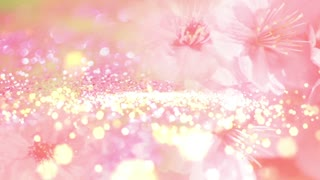 Particle Light Flower Background 02