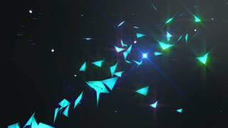 Particles Crack Blue Shine flash Loop - 4K Resolution Ultra HD UHD