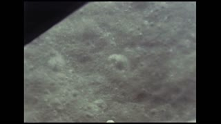 Passing By Moon Surface Craters