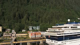Passing Cruise Ships In Alaskan Waters