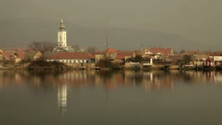Passing Romanian Town By Water