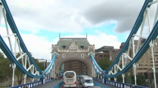 Passing Underneath Archway On Tower Bridge