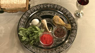 Passover traditional plate
