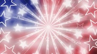 Patriotic Shimmering Stars