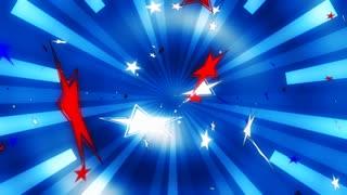 Patriotic Stars Blue