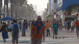 Pedestrian Traffic In Venice Timelapse