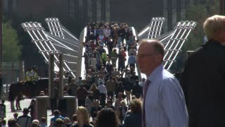 Pedestrian Traffic Over Millennium Bridge